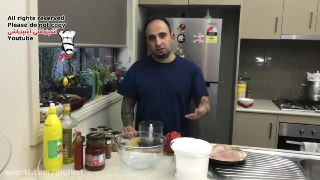 آسان مرغ دنر کباب رستورانی در منزل با منقل ذغالی