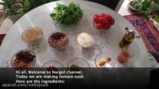 آش گوجه با نارگل