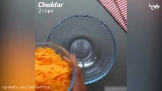 اسنک های لوله ای با ژامبون و پنیر