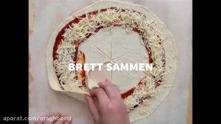 به راحتی پیتزا ستاره ای درست کنید