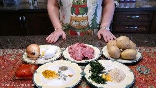 ترین کتلت گوشت با سیب زمینی ه به سبک آشپزخانه فریبا