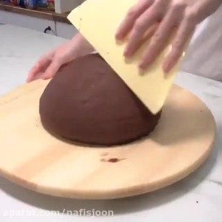 تزئین کیک به شکل قارچ