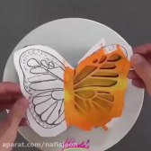 تزئین کیک به شکل پروانه