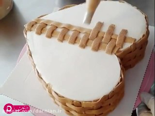 تزئین کیک سبد میوه