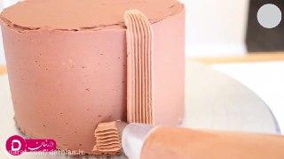 تزئین کیک غنچه