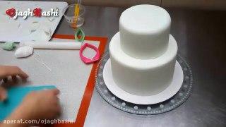 تزیین زیبای دو مدل کیک با فوندانت