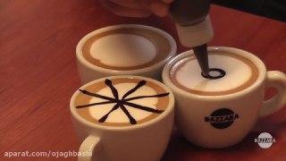 تزیین قهوه لاته بخش دوم