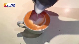 تزیین قهوه لاته بخش شانزدهم