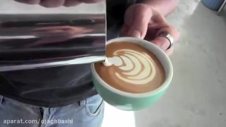 تزیین قهوه لاته بخش ششم