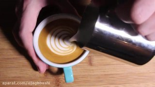 تزیین قهوه لاته بخش نهم