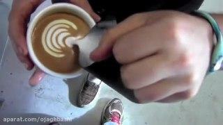 تزیین قهوه لاته بخش هفتم