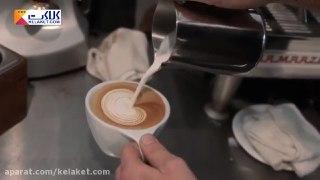 تزیین قهوه لاته بخش پنجم