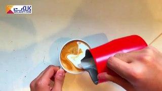 تزیین قهوه لاته بخش چهاردهم