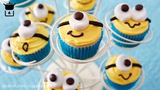 تزیین های بامزه برای کیک های فنجانی