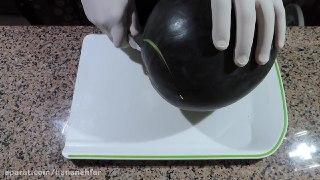 تزیین هندوانه به شکل دیس مخصوص شب یلدا
