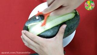 تزیین هندوانه به شکل گل مخصوص شب یلدا