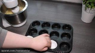 تزیین کاپ کیک با ماسوره به شکل گل مرحله به مرحله