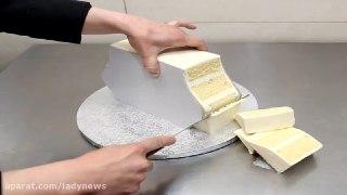 تزیین کیک با فوندانت به شکل کیف دستی
