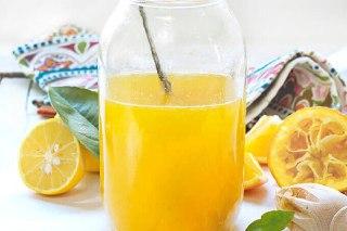 تصویر شربت پرتقال خانگی ساده
