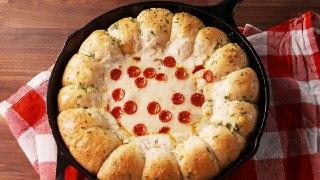 تصویر پیتزا چیزبایت گوشت