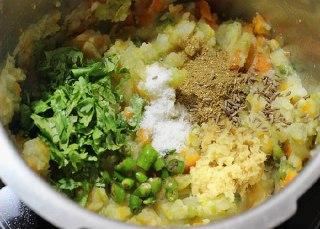 تصویر کتلت سبزیجات مرحله چهارم