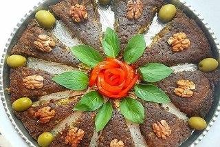 تصویر کوکو سبزیجات و گرد