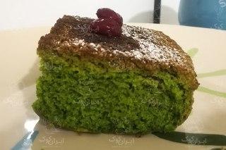 تصویر کیک سبز اسفناج