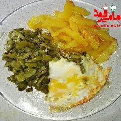 خوراک باقلا سبز ساده