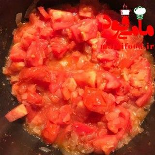 خوراک لوبیا چیتی و سبزیجات