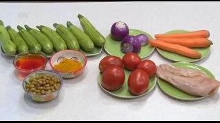 خوراک کدو سبز