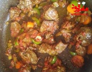 خوراک گوشت و هویج