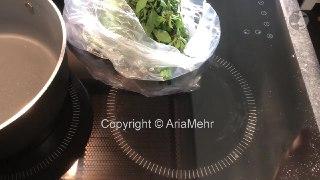 خورشت قرمه سبزی سرخ کردن سبزی قورمه