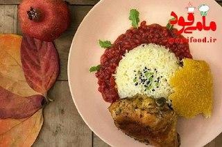 خورش سیر انار همراه با برنج