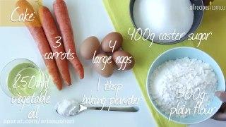 دستور کیک هویج برزیلی