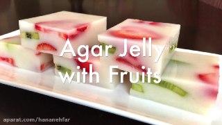 دسر با تکه های میوه آسان و