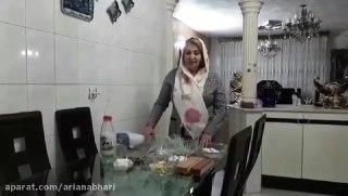 دسر مجلسی با خامه خانگی توسط پروانه جوادی خواهر جوادجوادی