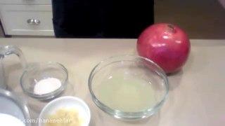 دسر پاناکوتا انار و لیمو