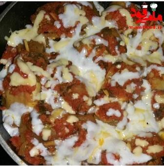 رول بادمجان شکم پر با پنیر