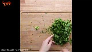 سالاد بلغور با سبزیجات