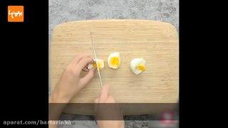 سالاد تخم مرغ و سبزیجات