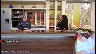 سالاد مخصوص سیب و بروکلی شیراز