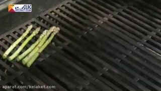 سالاد پاستا با سبزیجات گریل شده
