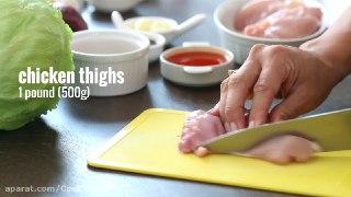 ساندویچ رول مرغ یک ناهار ساده و سریع