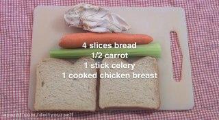 ساندویچ مرغ برای بچه ها