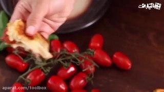 ساندویچ پنیری گوجه فرنگی کبابی