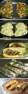 ساندویچ گوشت و پنیر