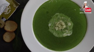 سوپ اسفناج با خامه مخصوص