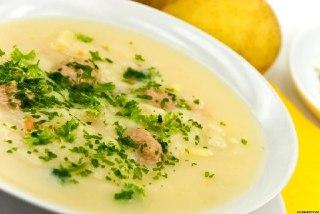 سوپ مرغ  و سبزیجات
