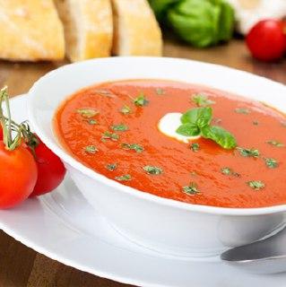 سوپ گوجه فرنگی با ماکروفر