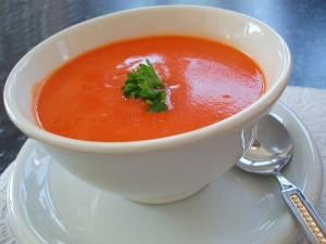 سوپ گوجه فرنگی پوره ای